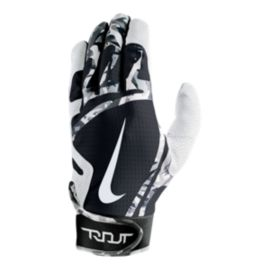 Nike Trout Edge Youth Batting Gloves - Black/White