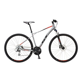 GT Transeo Elite Men's Hybrid Bike 2018 - Satin Silver
