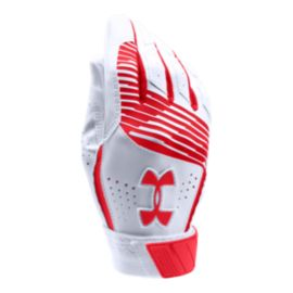 Under Armour Youth Clean Up Batting Glove - Red/White
