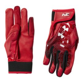 Under Armour Youth BH34 Batting Gloves - Red/White