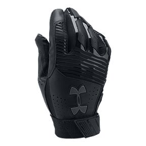 62216ff6611e1 Under Armour Clean Up Batting Glove - Black Graphite