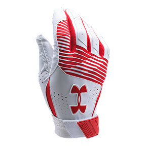 Under Armour Clean Up Batting Glove - Red/White