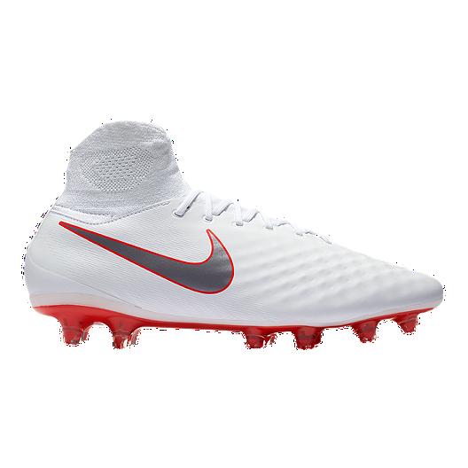new style 9bdf3 f87df Nike Men s Magista Obra 2 Pro Dynamic Fit FG Outdoor Soccer Cleats - White Grey Crimson    Sport Chek