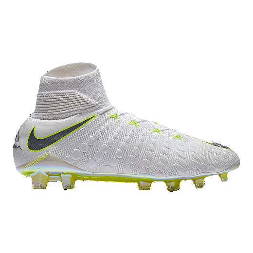 best authentic c246a 04c20 Nike Men's Hypervenom Phantom 3 Elite Dynamic Fit FG Outdoor Soccer Cleats  - White/Grey/Volt