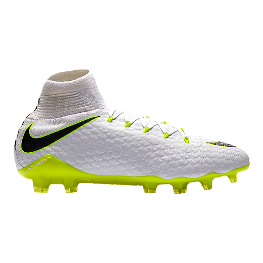 55e9c9a19 Nike Men s Hypervenom Phantom 3 Pro Dynamic Fit FG Outdoor Soccer Cleats -  White Grey