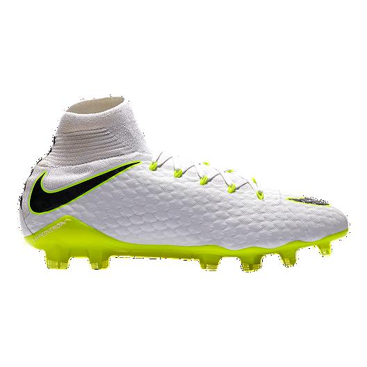 sale retailer 5b3ee 92960 Nike Men s Hypervenom Phantom 3 Pro Dynamic Fit FG Outdoor Soccer Cleats -  White Grey Volt Green   Sport Chek