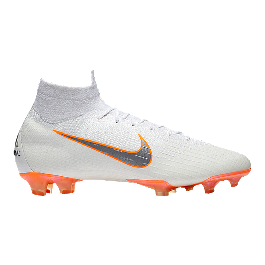189c926644f8 Nike Men s Mercurial Superfly 6 Elite FG Outdoor Soccer Cleats -  White Grey Orange