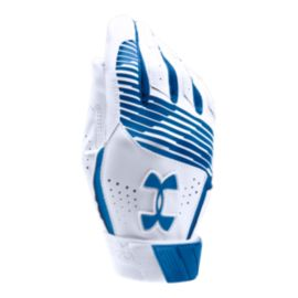 Under Armour Youth Clean Up Batting Glove - Royal Blue/White