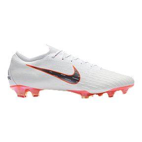 6a46195c6f460b Nike Men s Mercurial Vapor 12 Elite FG Outdoor Soccer Cleats - White  Grey Orange