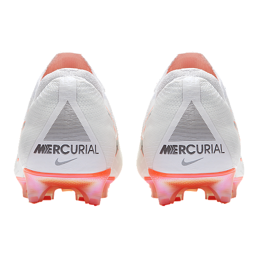 77e3461e1 Nike Men's Mercurial Vapor 12 Elite FG Outdoor Soccer Cleats -  White/Grey/Orange. (0). View Description