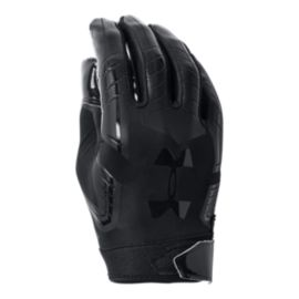 Under Armour F6 Football Glove - Black/Black