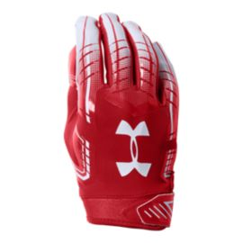 Under Armour F6 Football Glove - Red/White