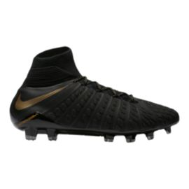 Nike Men's Hypervenom Phantom 3 Elite Dynamic Fit FG Outdoor Soccer Cleats - Black/Gold