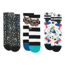 Stance Toddler Boys' Napkin Apocalypse Socks - 3 Pack