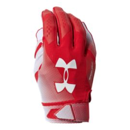 Under Armour Spotlight Football Gloves - Red/White