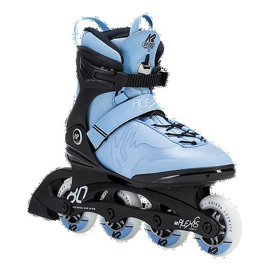 K2 Skate Womens Alexis 80 Pro Inline Skates Steel Blue