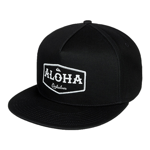 ... best price quiksilver mens state of aloha snapback hat black black grey  137a9 e0988 2d7084251795