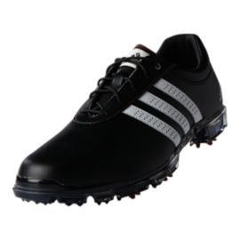 adidas Golf Men's Adipure Flex Wide Golf Shoes - Black/White/Red