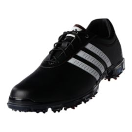 adidas Golf Men's Adipure Flex Golf Shoes - Black/White/Red