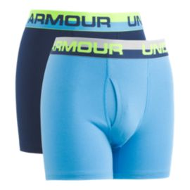 Under Armour Boys' Solid Cotton Boxer Briefs 2 - Pack