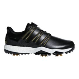adidas Golf Men's Powerband BOA Boost Golf Shoes - Black/Gold/White
