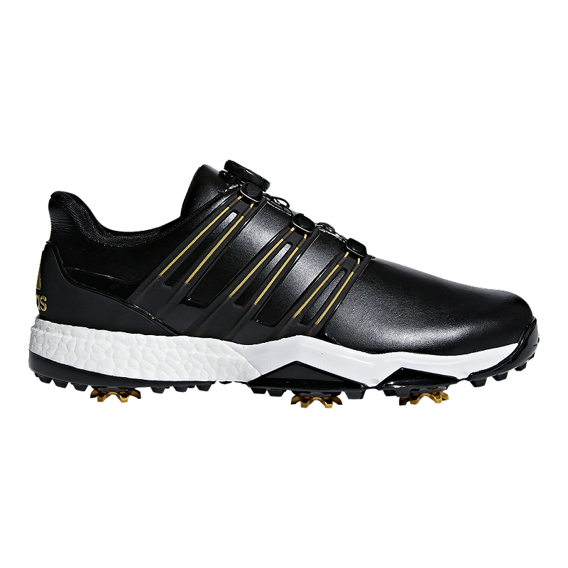 c5681b22458921 adidas Golf Men s Powerband BOA Boost Golf Shoes - Black Gold White ...