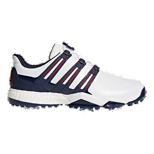 8a65e91962f7a2 adidas Golf Men's Powerband BOA Boost Golf Shoes - Red/White/Blue | Sport  Chek