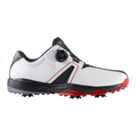 adidas Golf Men's 360 Traxion BOA Golf Shoes - White/Black/Red