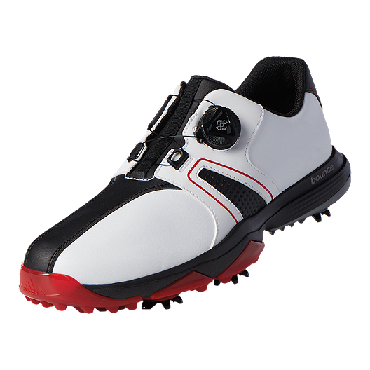 c429e9319 adidas Golf Men s 360 Traxion BOA Golf Shoes - White Black Red ...