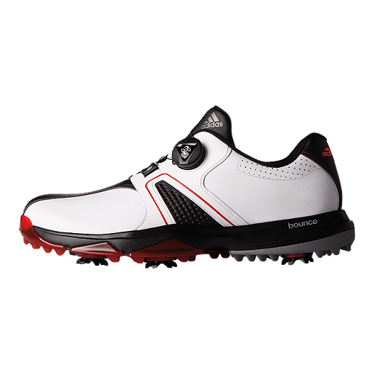 40ef7e03f adidas Golf Men s 360 Traxion BOA Golf Shoes - White Black Red. (0). View  Description