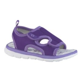 Ripzone Toddler Girls' Zip Seashells Sandals - Light Purple/White