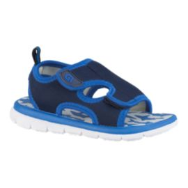 Ripzone Toddler Zip Sharks Sandals - Blue/White