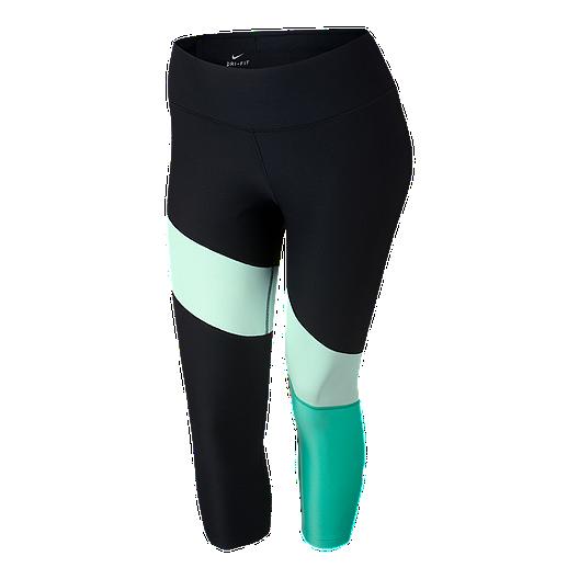 61a1fa0aff Nike Women s Power Veneer Colour block Crop Plus Size Tights