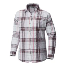 Mountain Hardwear Women's Canyon VNT Long Sleeve Shirt - Fog Bank
