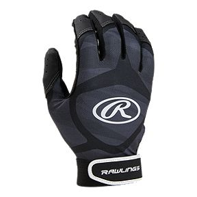 free shipping 1e0c9 6a499 Rawlings Prodigy Batting Glove - Black Grey