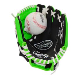 Rawlings Youth Player Series Baseball Glove - Black/Lime Green
