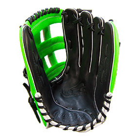 "Rawlings Gamer 13"" Right Hand Catch Slowpitch Glove - Black/Green"