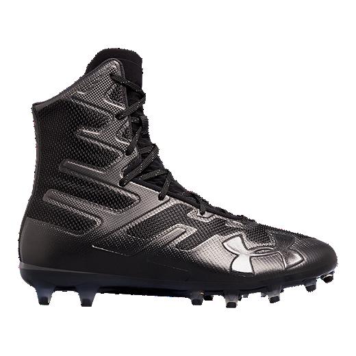 ba98b0f57 Under Armour Men s Highlight MC Mid Football Cleats - Black - BLACK BLACK
