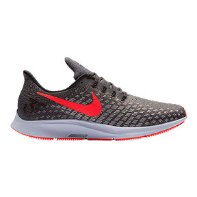 Nike Men's Zoom Pegasus 35 Running Shoes - Grey/Red