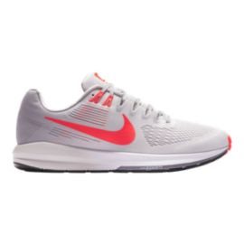 Nike Men's Zoom Structure 21 Running Shoes - Grey/Red