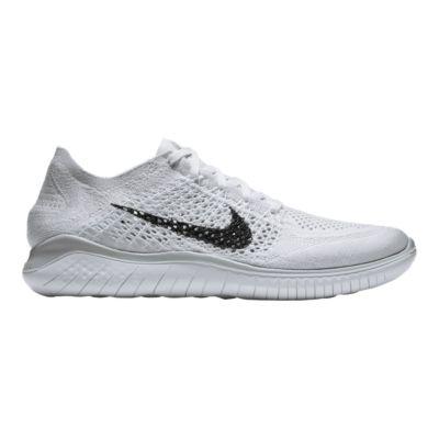 nike men s free rn flyknit 2018 running shoes white black platinum rh sportchek ca