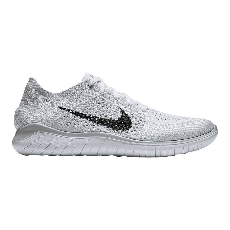 76a96001e10ff Nike Men s Free RN Flyknit 2018 Running Shoes - White Black Platinum ...