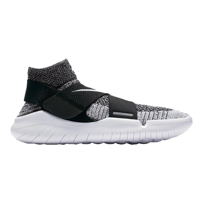 Nike Men S Free Rn Motion Flyknit 2017 Running Shoes Black White Sport Chek
