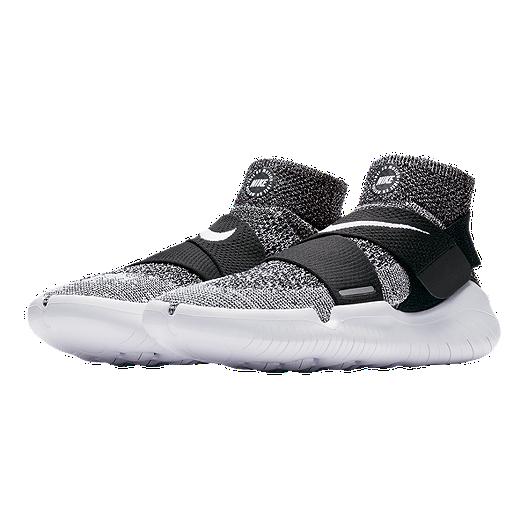 Nike Men's Free RN Motion Flyknit 2017 Running Shoes BlackWhite