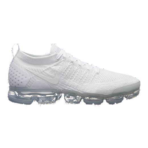 check out 9c4e6 33221 Nike Men's VaporMax Flyknit 2 Running Shoes - White/Platinum - WHITE/WHITE/