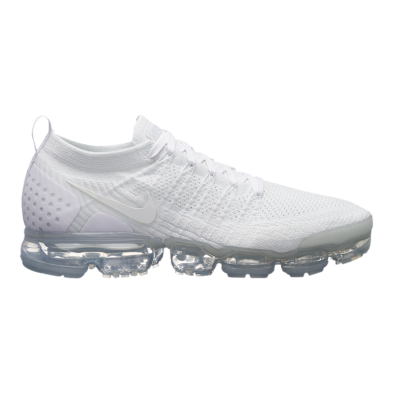 newest b1c86 5cc14 Nike Men's VaporMax Flyknit 2 Running Shoes - White/Platinum ...