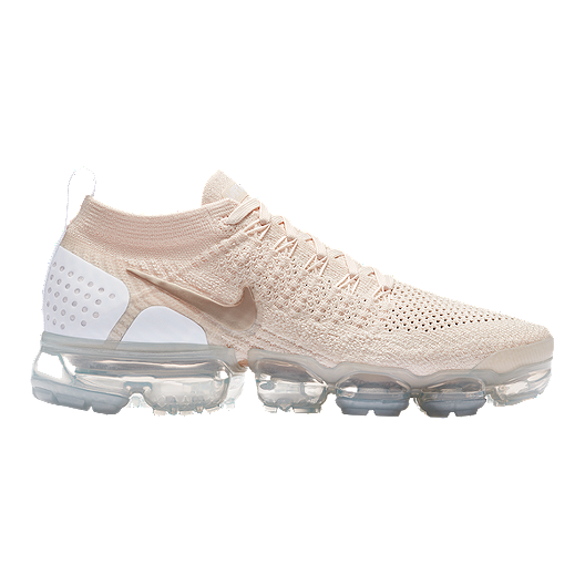 29d57959d58 Nike Women s Air VaporMax Flyknit 2 Running Shoes - Cream Gold White ...