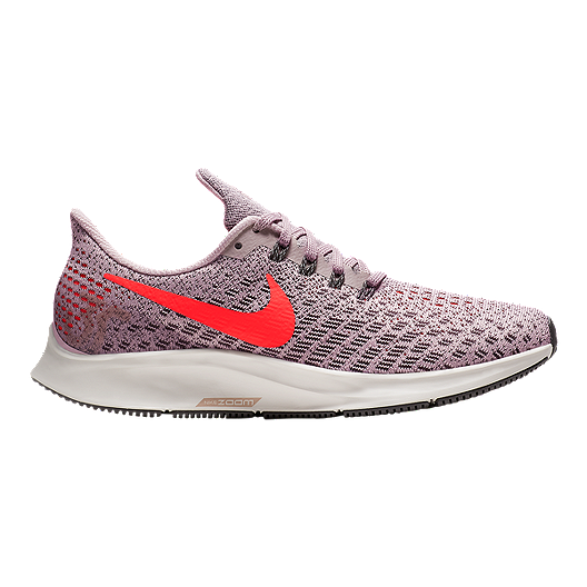193486a190256 Nike Women s Zoom Pegasus 35 Running Shoes - Pink Red Grey