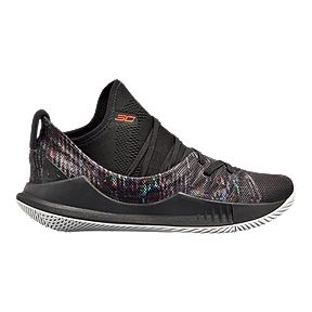 0c9cc9230245 Under Armour Kids  Curry 5 Grade School Basketball Shoes - Black White