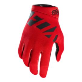 Fox Ranger Gel Mountain Bike Gloves - Bright Red